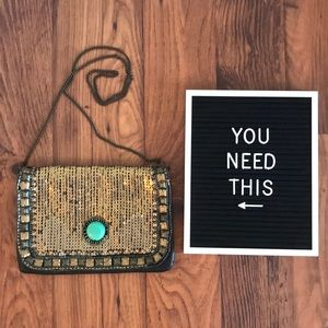Urban Outfitters Gold Studded Crossbody